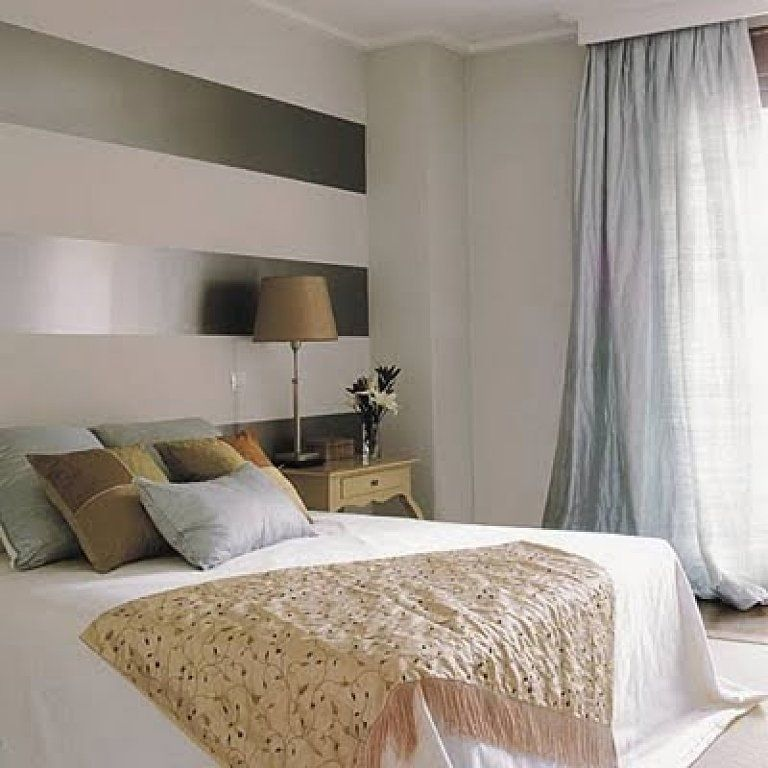 Resultado de imagen de cabeceros pintados a rayas ideas for Dormitorio granate
