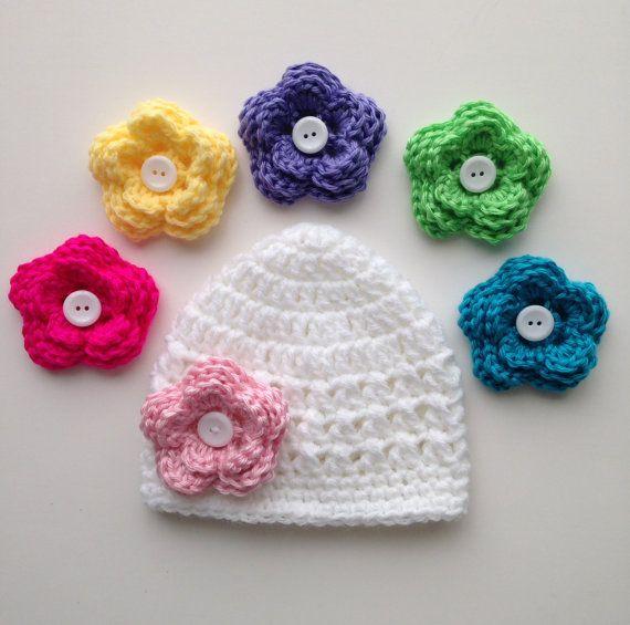 Baby Girl Hat, Baby Hat, Newborn Hat, Crochet Hat, Photo Prop, Hat ...