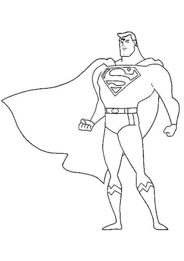 print coloring image - MomJunction | Superman coloring ...