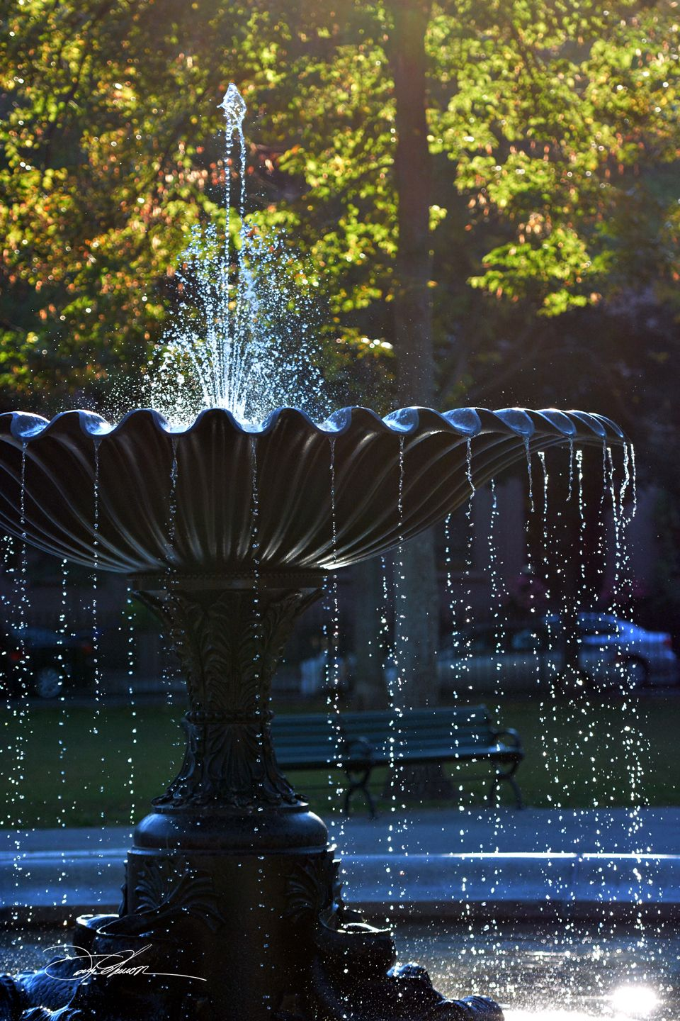 David Fuller Photo Washington Square Park South End Boston With Images Water Features In The Garden Water Fountain Fountains