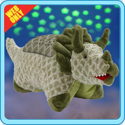 Green Triceratops Animal Pillows Dinosaur Stuffed Animal Plush Pillows