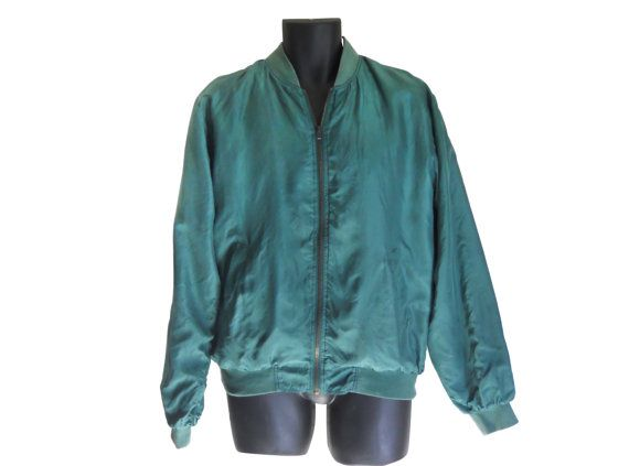 Silk Bomber Jacket Men Silk Jacket Men by #ShineBrightVintage ...