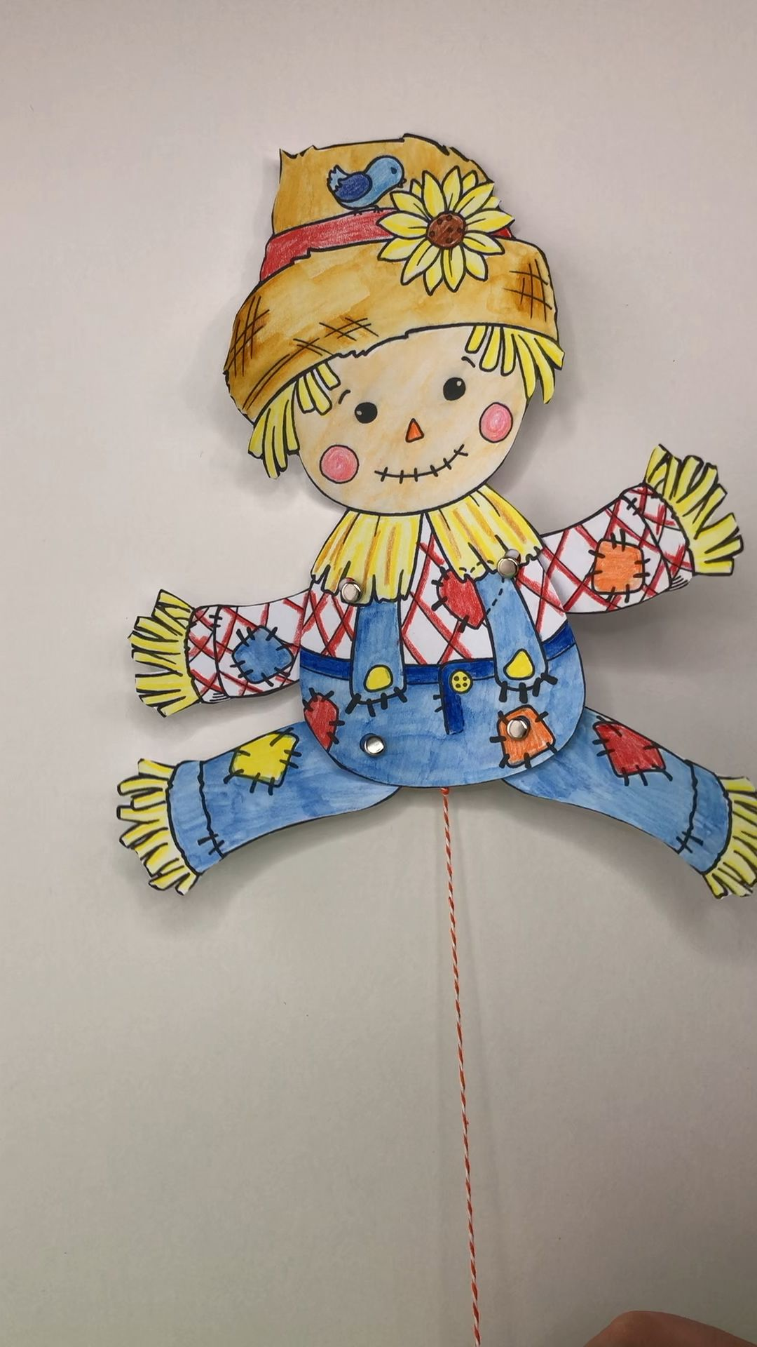 Articulated Scarecrow Puppet Printable for Harvest Festival - Red Ted Art