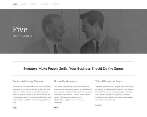 Squarespace website template Five Build an inspired site - resume site template