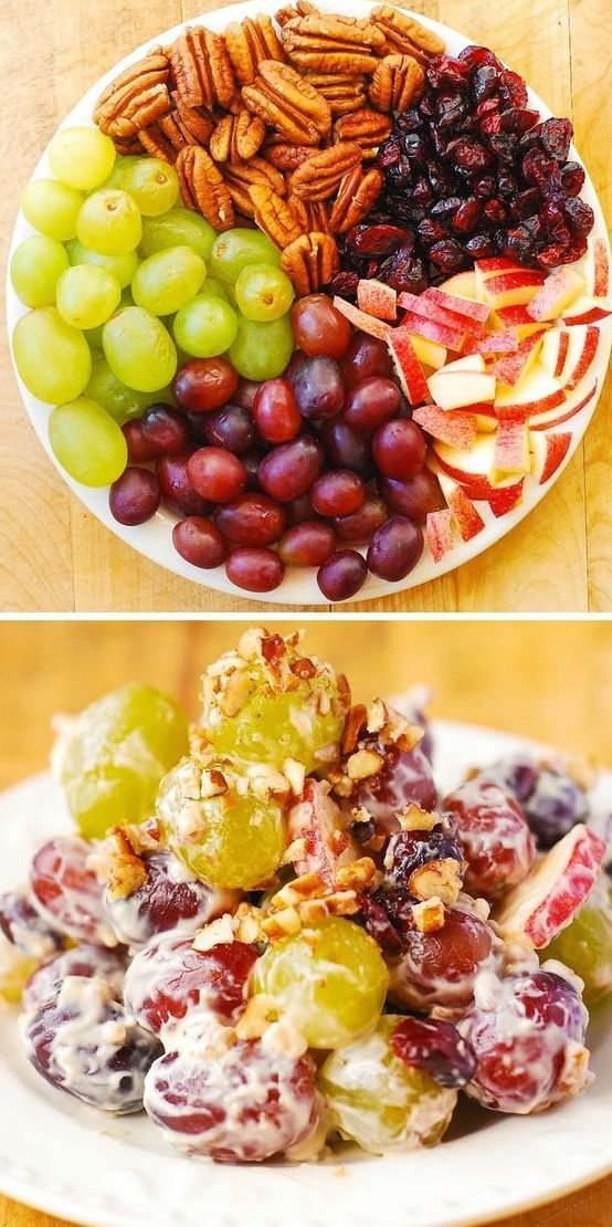 Creamy Grape and Apple Salad #Äpfelverwerten