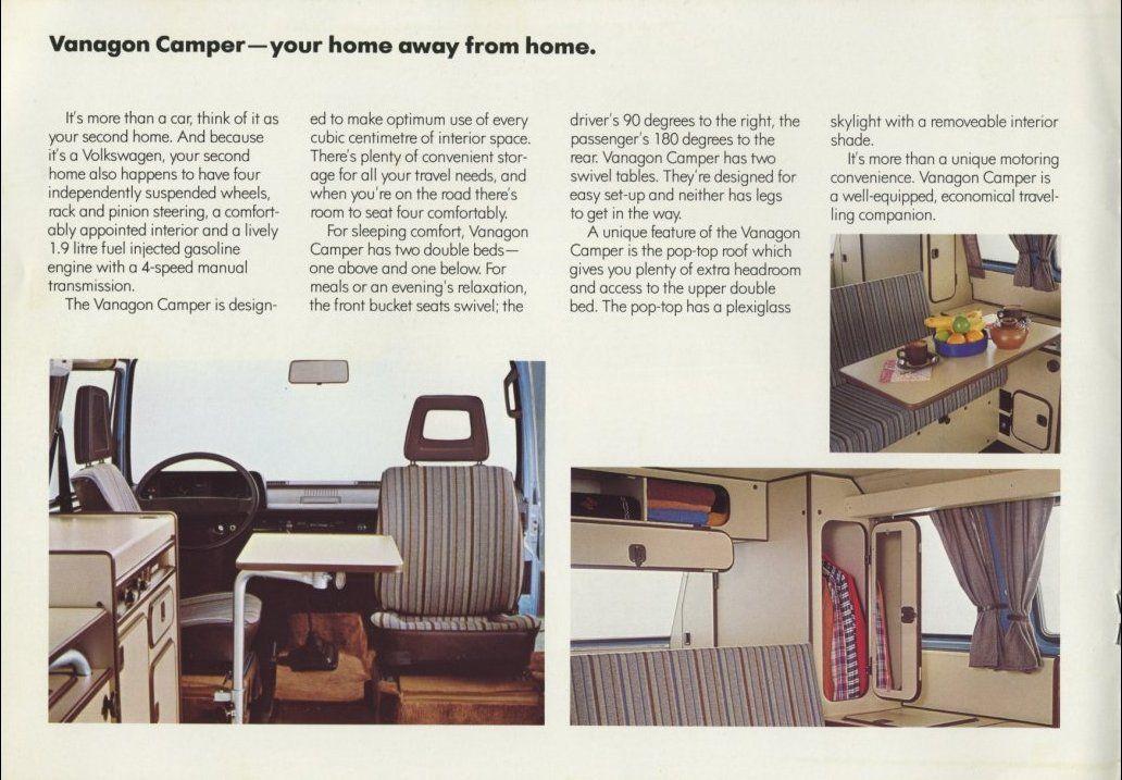Vanagon Owners Manual Vw Vanagon Caravan Interior Vw Syncro