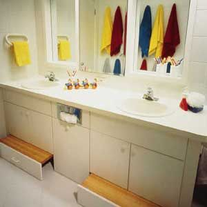 Bathroom Vanity With Pull Out Step That S A Great Idea So You Don T Have Stools Always In The Way For Lil Ones