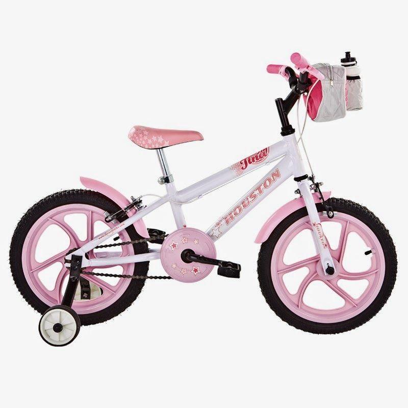 Bicicleta Aro 16 Tina Branco - Houston, por R$ 329,90