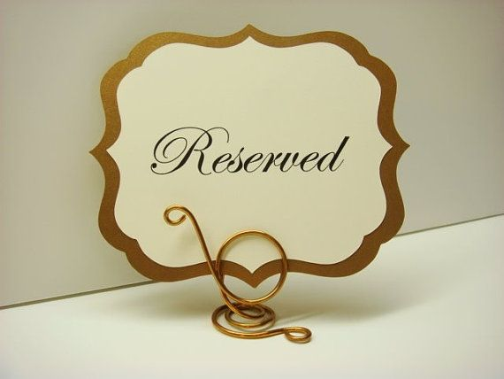Wedding Sign Elegant Label Design Prepared With Your Custom Wording For Head Table Reserved Signs Dessert Buffet