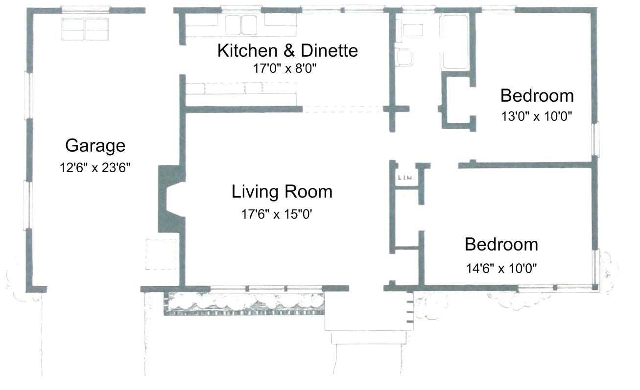 Free Small House Plans Two Bedroom House Small House Floor