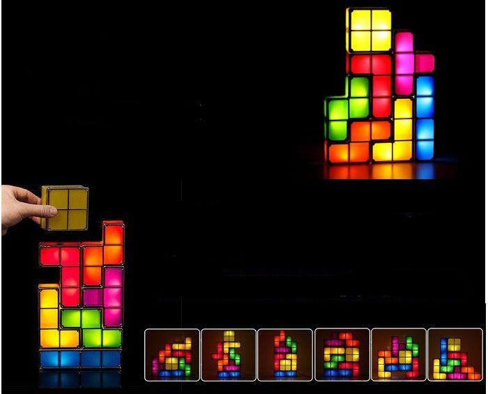 Tetris Stackable Led Desk Lamp Light Led Desk Lamp Lamp Light Lamp