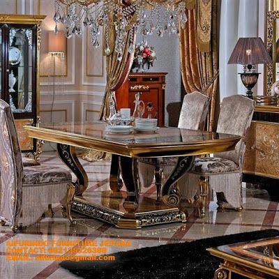 Jual Meja Makan Klasik Jepara Cassic Ukiran Victorian Dining RoomsInteriorsClassicFurniture