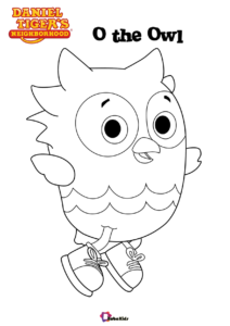 O The Owl Character From Tv Series Daniel Tiger S Neighborhood Coloring Page Cartoon Coloring Pages Precious Moments Coloring Pages Daniel Tiger