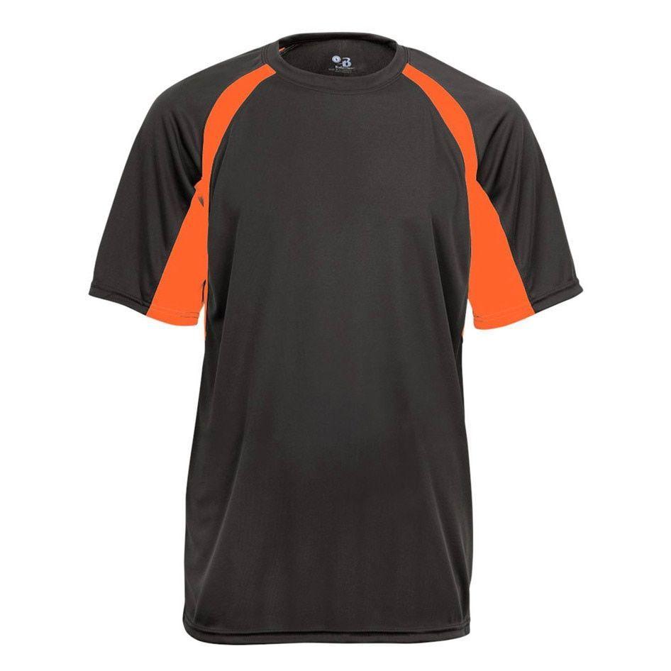 Boys' Graphite/Safety Orange 2-Tone Hook Short-sleeve T-shirt