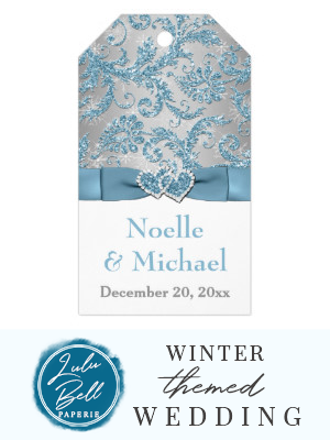 Winter-Märchenland-Gastgeschenk Hochzeitsumbau – Eisblau | Zazzle   – Winter Wedding Invitations, Decor, Ideas, Bridesmaid Dresses, Floral Bouquets, Centerpieces, and Christmas Wedding Color Palettes