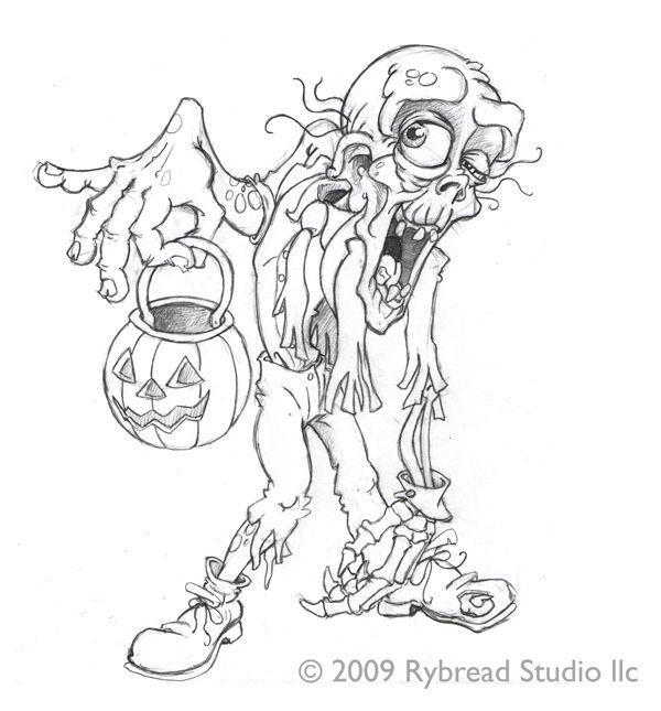 Zombie Rybread Studio Halloween Coloring Pages Halloween Coloring Coloring Pages