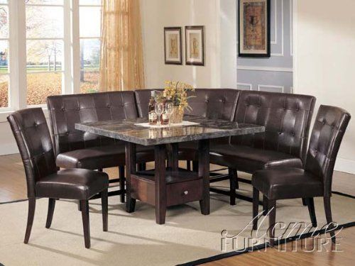 This 6 Piece Cushioned Breakfast Nook Set Is More Substantial And  Comfortable Than The 2 Listed Above (but Also More Expensive).