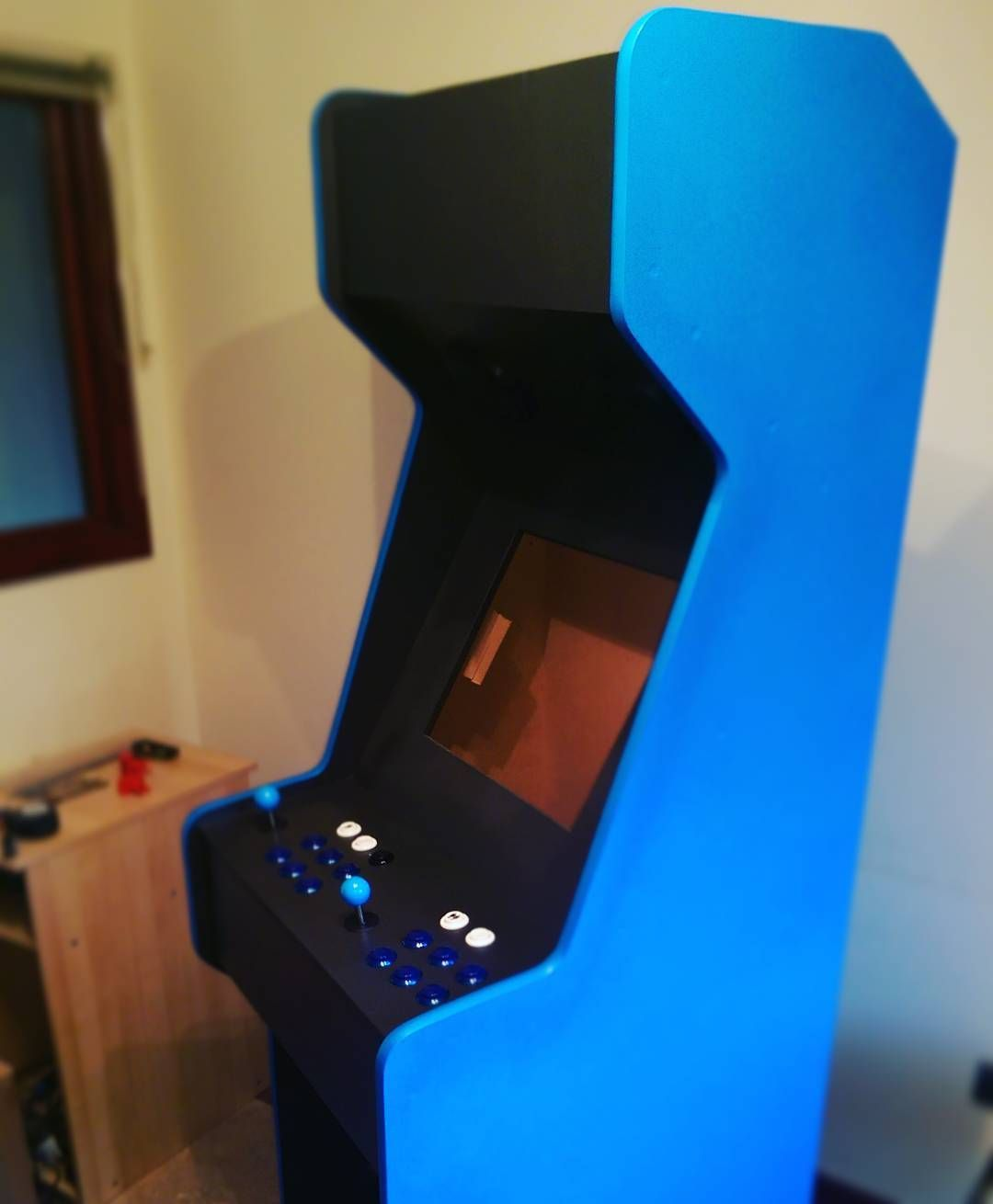 Something we loved from Instagram! A build from last week a customer's #custommachinemk5 this one blue/black with #streetfighter2 #vinyl #marqueeart  #customarcademachines #arcademachine #retrogaming #retrogames #raspberrypi #retropie #nintendo #sega #snes #megadrive #sonicthehedgehog #supermario #mancave #boystoys by gafpritch Check us out http://bit.ly/1KyLetq