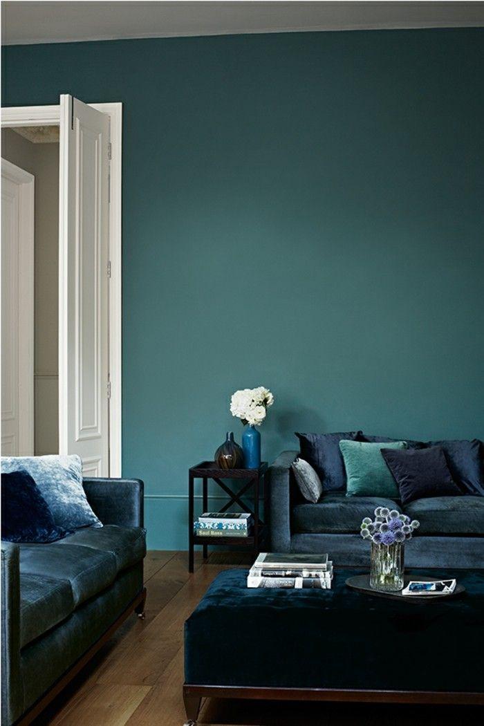 Petrol Farbe   Ideen Für Wandgestaltung Und Hilfreiche Tipps. Wohnzimmer In  Petrol Wandfarbe