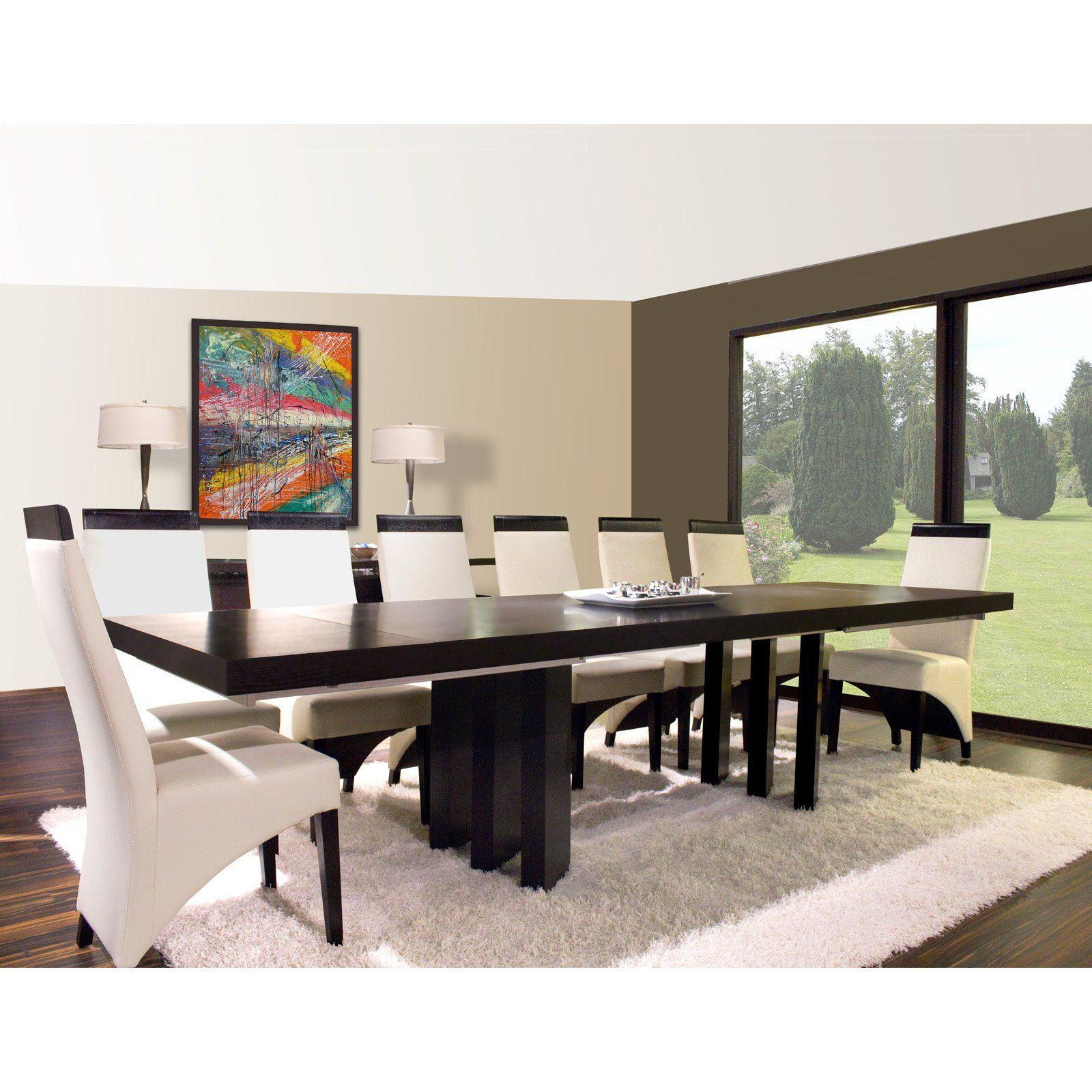 cd97c1bd34249 Verona Rectangular Extension Dining Table - Wenge - The Verona Rectangular  Extension Dining Table - Wenge is straightforward contemporary style.