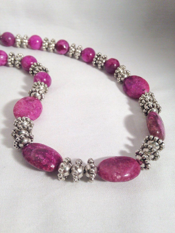 Purple beaded necklace, purple stone necklace, beaded necklace, purple necklace, stone necklace by KCstylejewelry on Etsy https://www.etsy.com/listing/218380162/purple-beaded-necklace-purple-stone