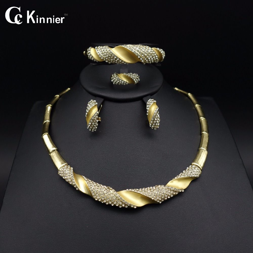 Dubai gold-color wedding Unique design Necklace Fashion jewelry ...
