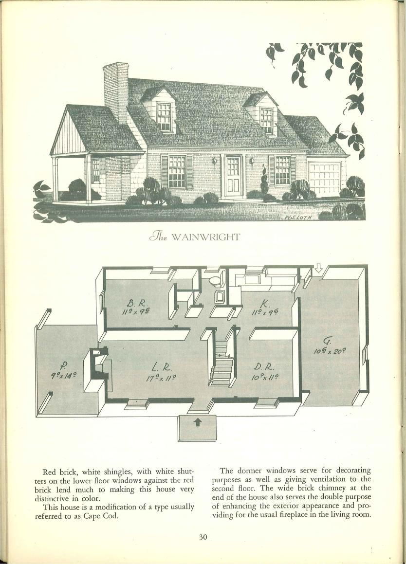 Tested Homes Post War Edition Vintage House Plans House Plans Vintage House