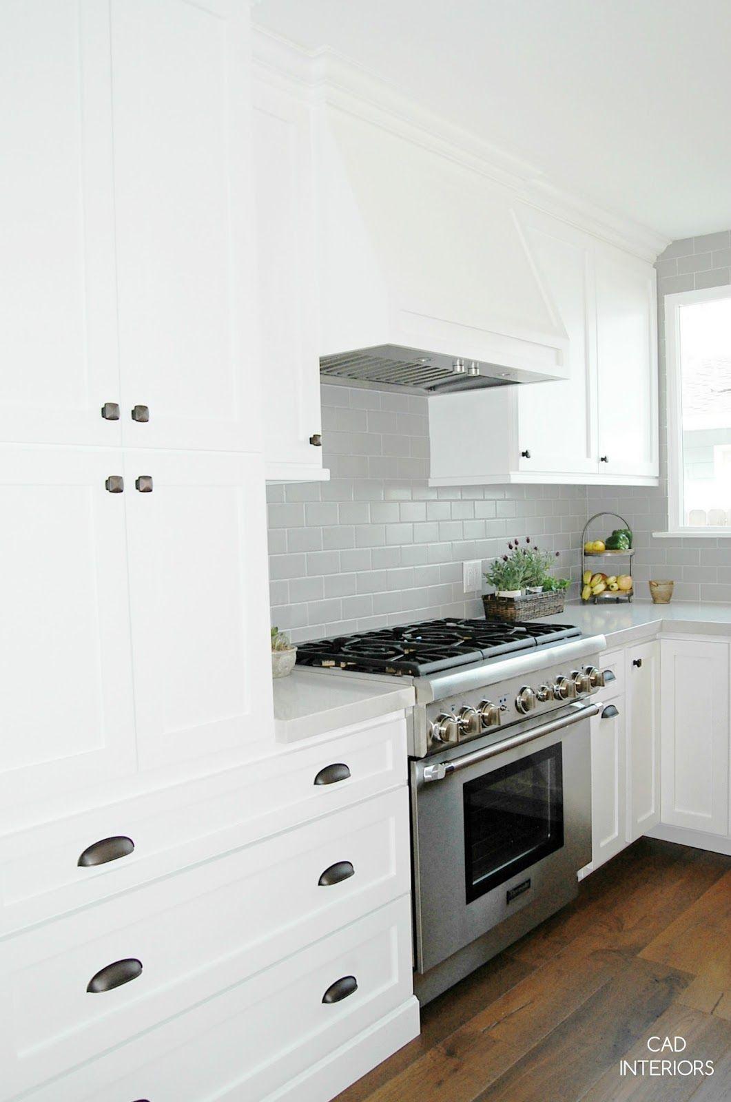 CAD INTERIORS_white shaker profile cabinets_appliance ...