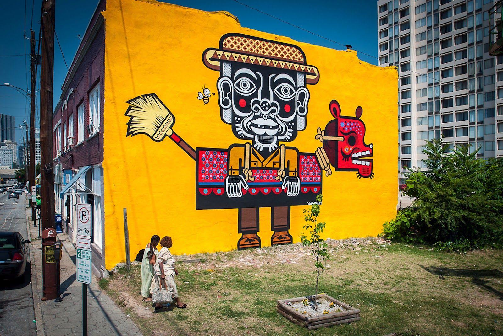 Artista Neuzz From Mexico City Originally Oaxaca Flies To Atlanta Bring Art An Impoverished Community