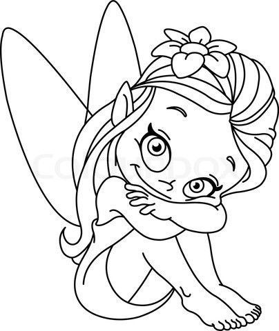 Baby Fairy Illustration Google Search Fairy Coloring Pages Fairy Coloring Fairy Drawings
