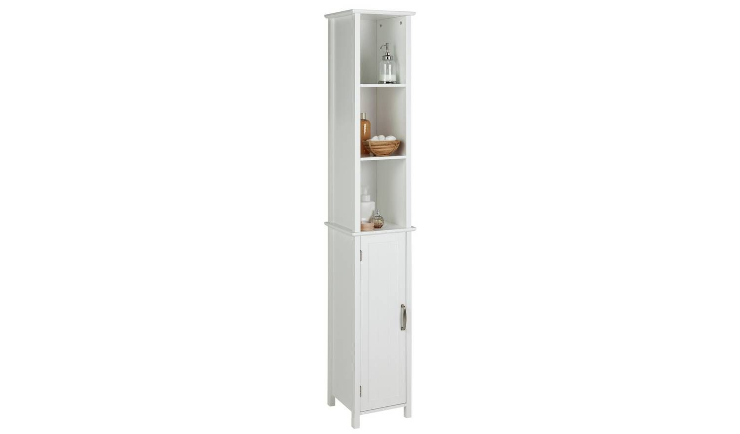 Buy Argos Home Tongue & Groove Tallboy - White ...