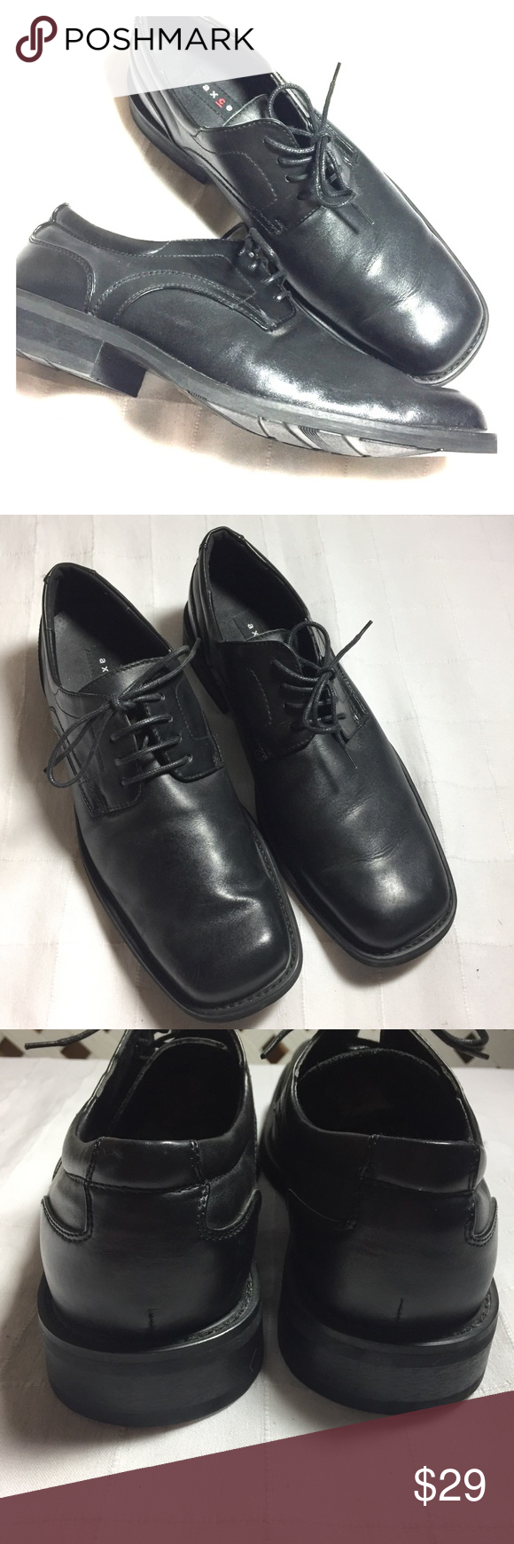 Axcess Mens Black Dress Shoes 10 Worn Once Mens Black Dress Shoes Black Dress Shoes Dress Shoes [ 1740 x 580 Pixel ]