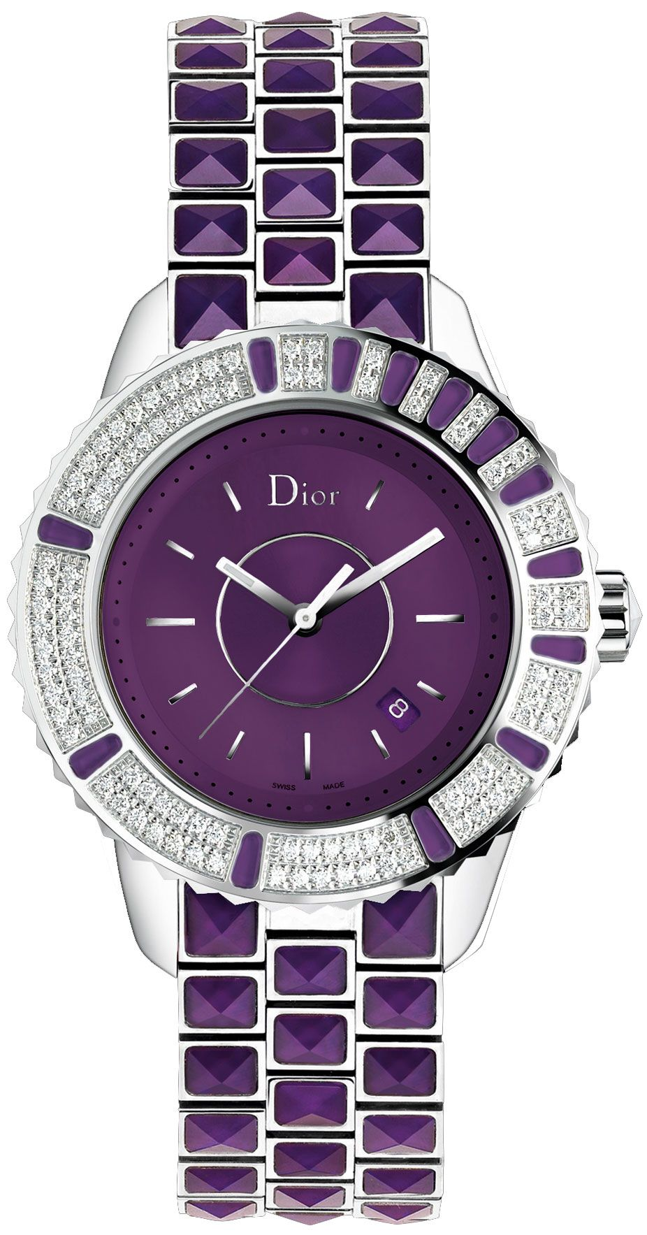 b56e9a6b9d2 Christian Dior Christal Ladies Watch Tudo Roxo