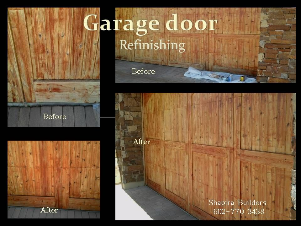 Gentil Refinishing Wood Garage Door