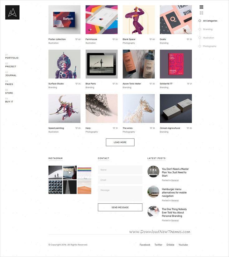 Quantica - Creative Portfolio WordPress Theme   Creative portfolio ...