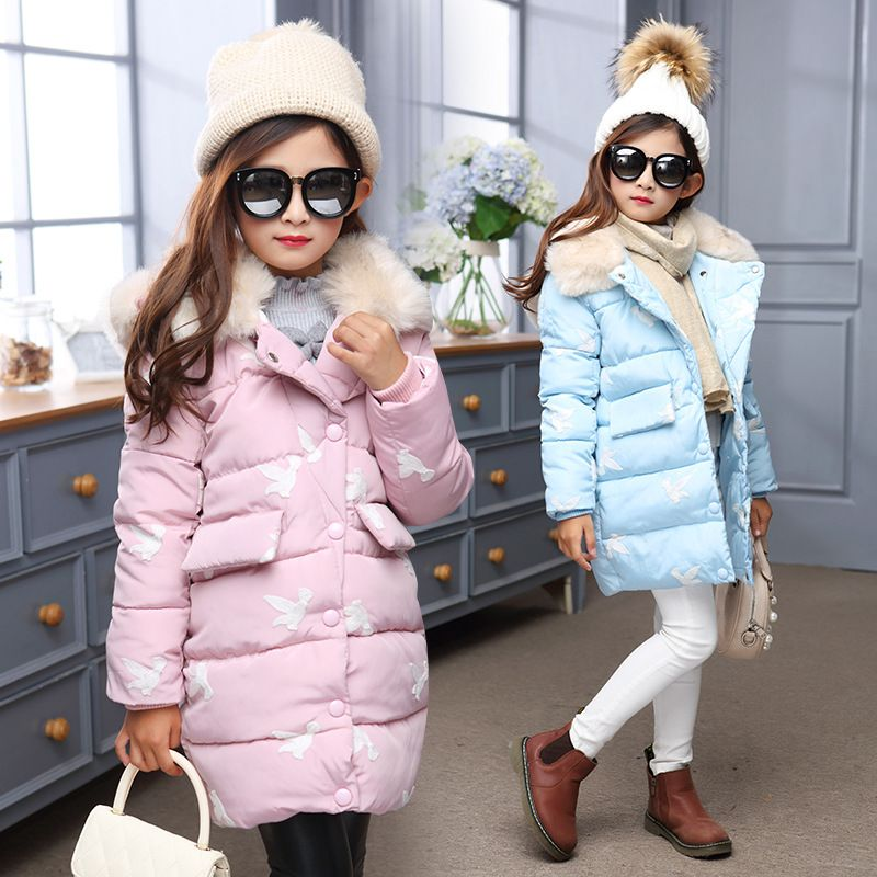 09f84bf64 Cheap 2017 chaquetas de Invierno para niñas niños ropa niños ropa gruesa de  cuello de piel con capucha abrigo de invierno de las muchachas abrigos y ...