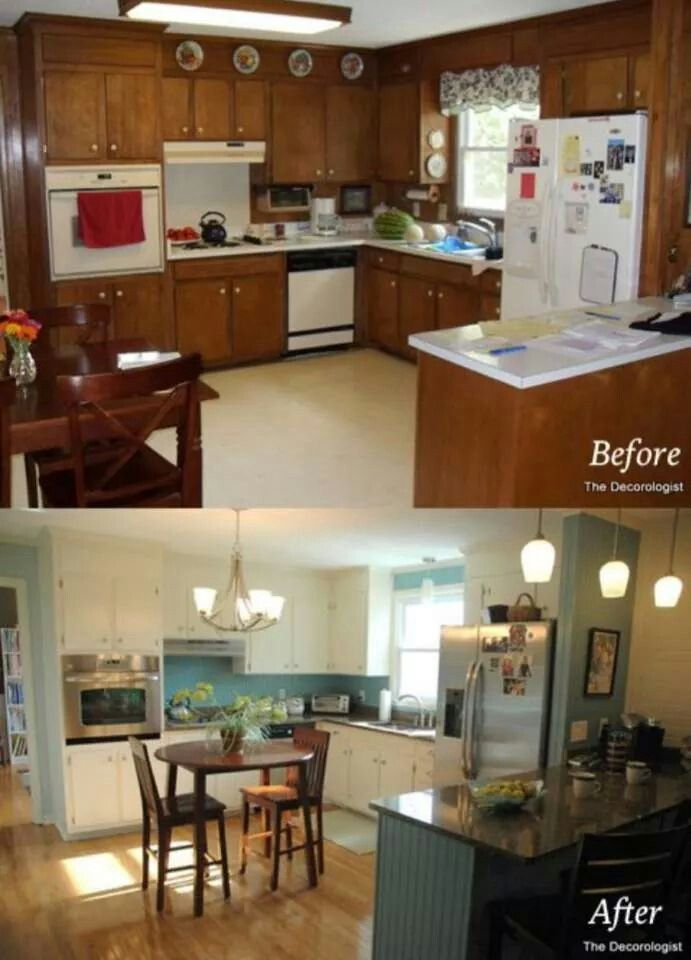 Mobile home kitchen renovation before and after - Mobihome muebles ...