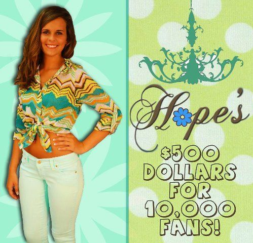 Who want's some Hope's cash? Share it to win it :)