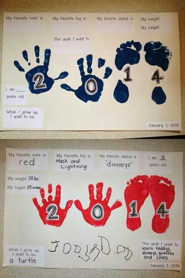 New Year Craft Ideas For Kids Part - 32: New Year Project! Turn Precious Hands And Feet Into A New Year Project. It  Would Also Be A Good Birthday Project.
