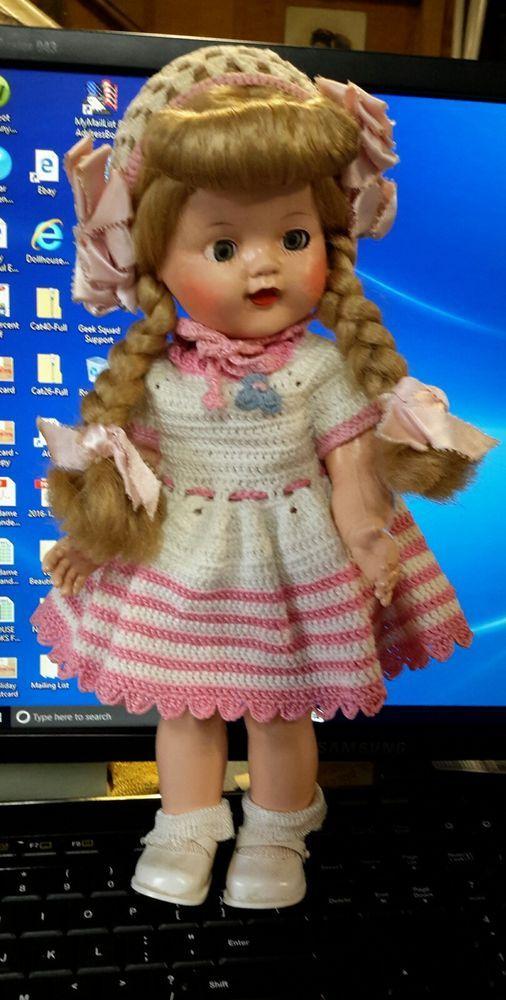 "12"" Vintage WALKER GIRL DOLL * Hard Plastic * unmarked but just beautiful  | Dolls & Bears, Dolls, By Material | eBay!"