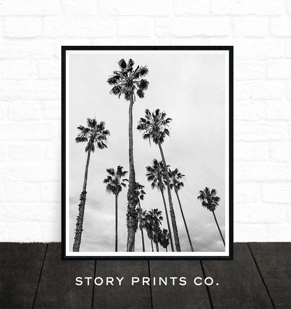 Palm Tree Print Palm Tree Photo Black And White Photography Etsy In 2020 Palm Tree Art Tropical Wall Art Palm Tree Photography
