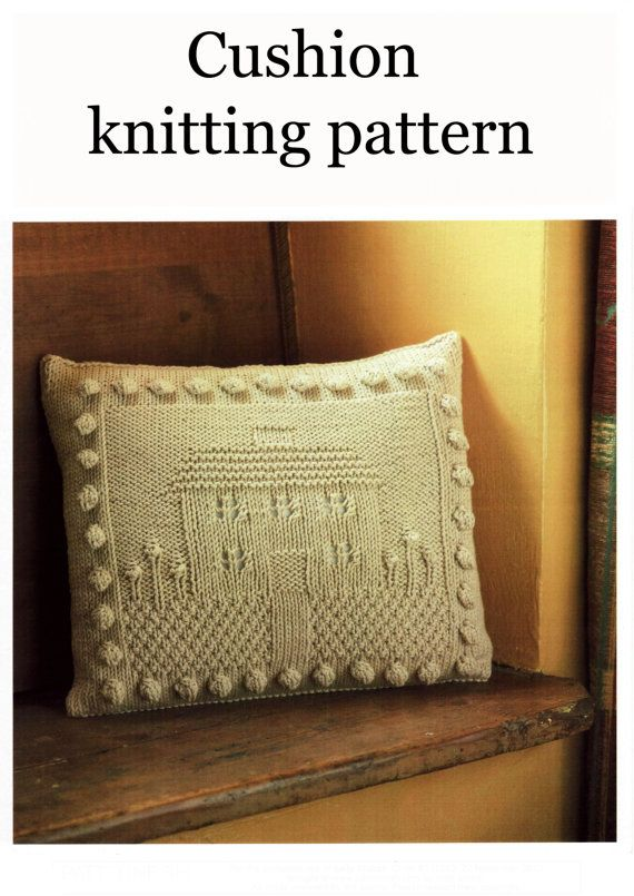 House Cushion Knitting Pattern Digital Pdf Download By Knitcheap