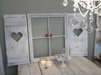 Esszimmer Dekoration Set : Set shabby fensterladen sprossenfenster deko esszimmer foto rahme