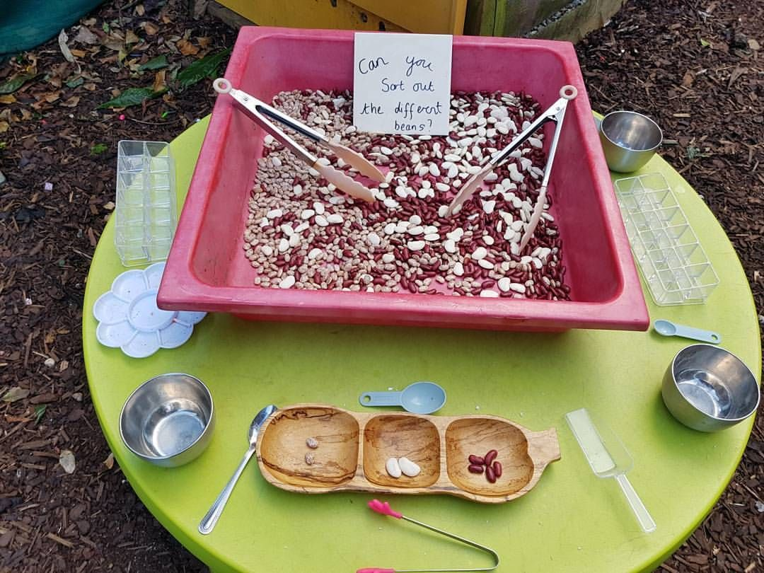 Sorting Eyfs Sensoryplay Outdoorclassroom With Images