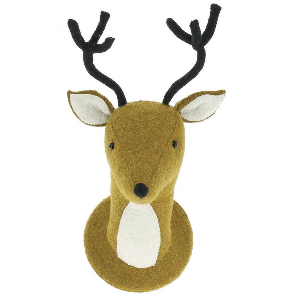Fiona Walker England Bambi Deer Felt Animal Head Wall Decor | Baby ...