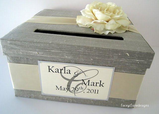 Grey Wedding Card Box