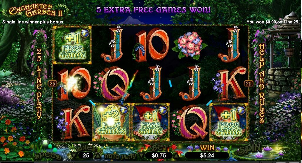 Enchanted Garden 2 Real Money Slot Review at www