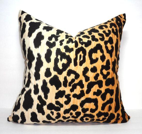 braemore jamil velvet cheetah animal print pillow by homeliving