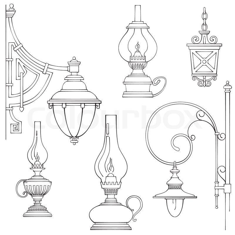 Vintage Lamp Drawing Of 39 Vintage Gas Lamps Lantern Drawing Kerosene Lamp Lamp Tattoo