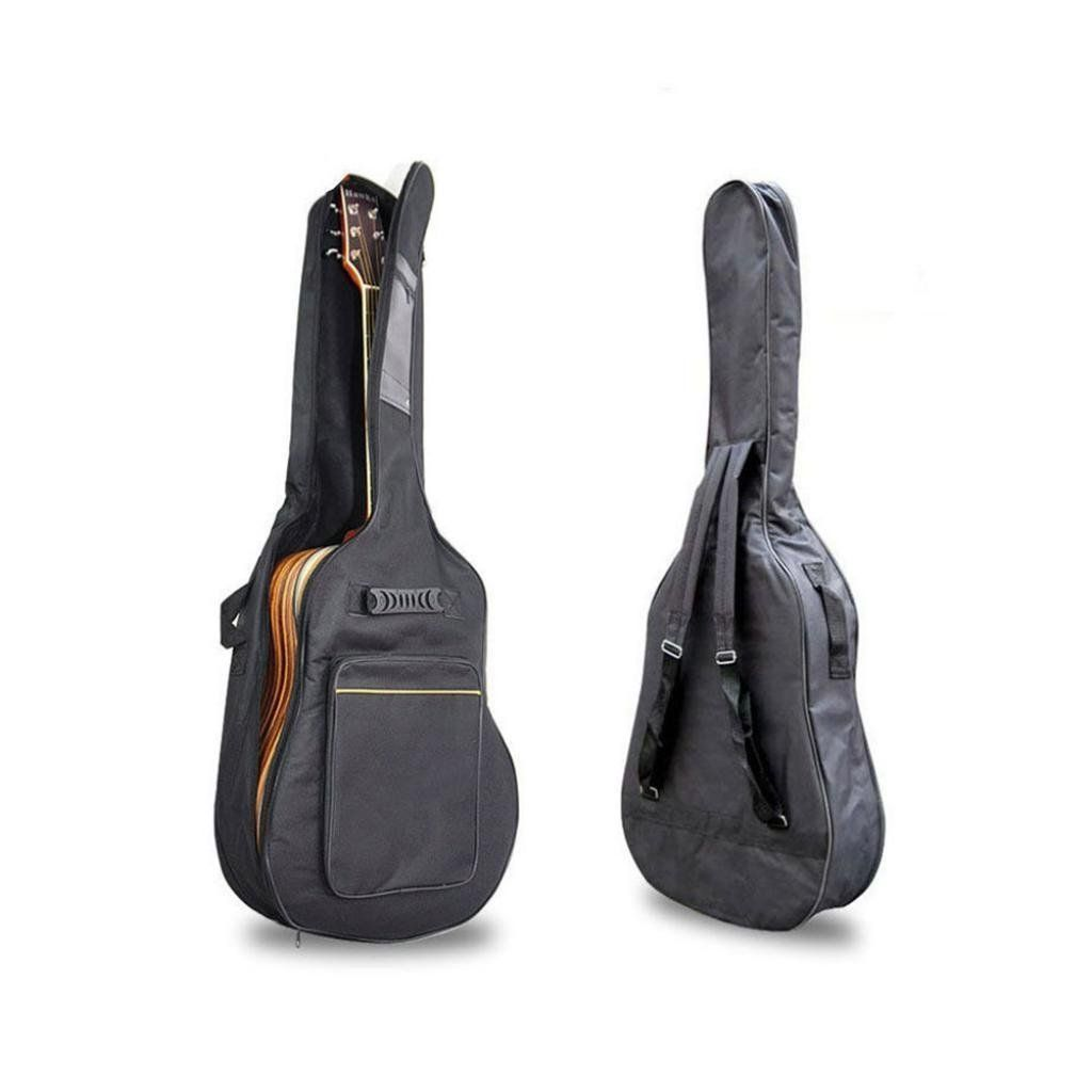 Black 41 Acoustic Guitar Double Straps Padded Guitar Soft Case Cover Bag Backpack See This Great Product It Is Am Guitar Bag Acoustic Guitar Backpack Free